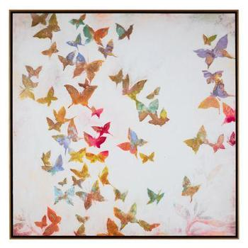 Art/Wall Decor - All A Flutter | Z Gallerie - butterfly wall art, butterfly framed art, multi colored butterfly art, butterfly art in floating frame,