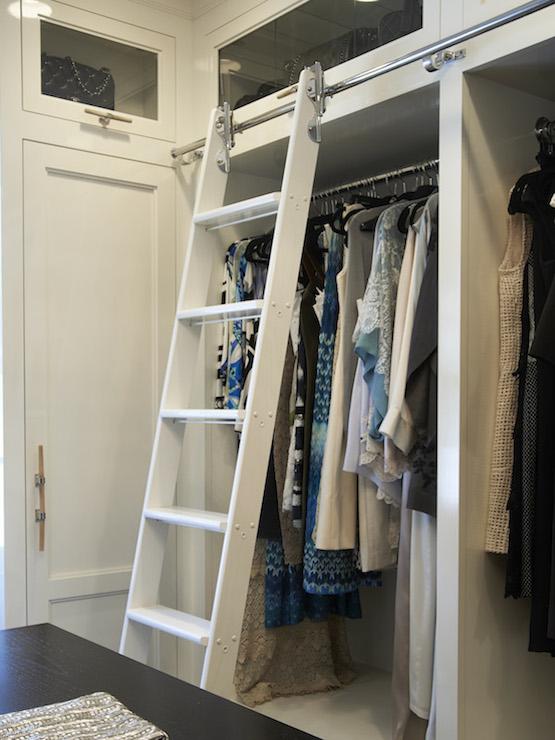 Closet Ladder Transitional Closet Brooks Amp Falotico