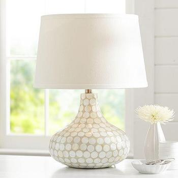 Lighting - Capiz Inlay Lamp | PBteen - capiz shell lamp, inlaid capiz lamp, capiz table lamp,