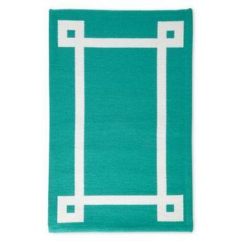 Rugs - Happy Chic by Jonathan Adler Indoor/Outdoor Rug I JCPenney - turquoise indoor outdoor rug, modern turquoise rug, turquoise rug with white border,