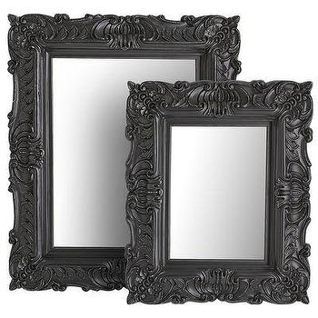 Mirrors - Black Baroque Mirrors I Pier 1 - black ornate mirror, black baroque mirror, black rococo mirror, rococo style mirror,