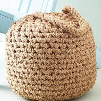 Seating - Harborside Buoy Ottoman I Bliss Home and Design - woven jute ottoman, buoy ottoman, nautical ottoman, jute rope ottoman,