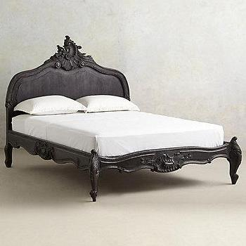Beds/Headboards - Menara Bed I anthropologie.com - ornate french style bed, black french style bed, ornate carved bed, carved black bed,