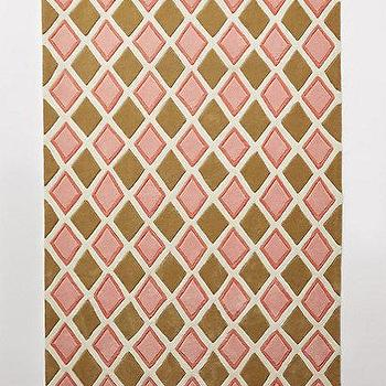 Rugs - Harlequin Rug I anthropologie.com - pink and beige diamond rug, pink and beige diamond patterned rug, pink and beige harlequin rug,