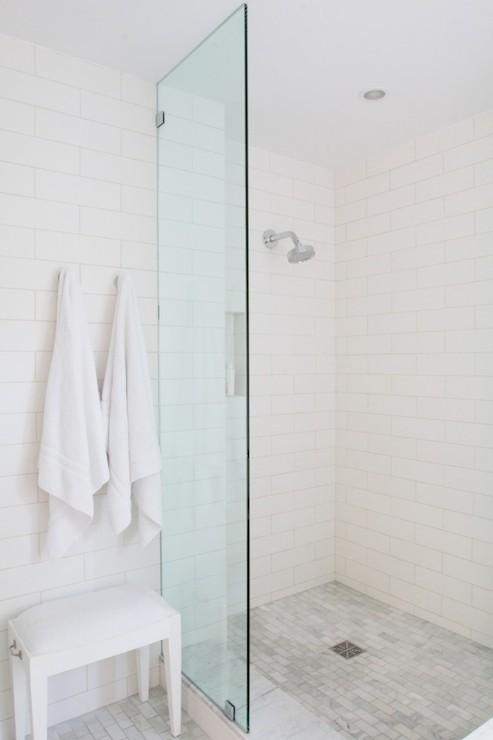 Glass Shower Partition Contemporary Bathroom Bestor