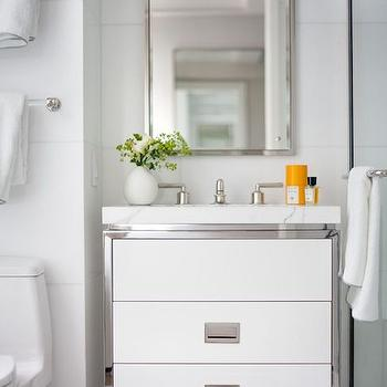 Floating Sink Vanity, Contemporary, bathroom, Victoria Hagan Interiors