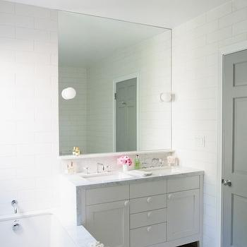 Gray Door, Contemporary, bathroom, Benjamin Moore Baltic Gray, Bestor Architecture