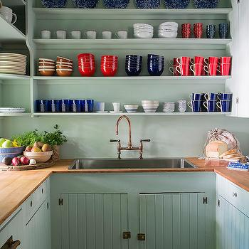 Mint Green Kitchen, Country, kitchen, Studio MRS