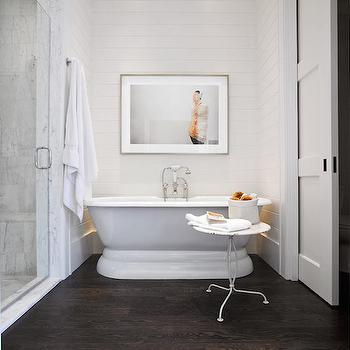 Pocket Door Water Closet, Transitional, bathroom, Jessica Glynn