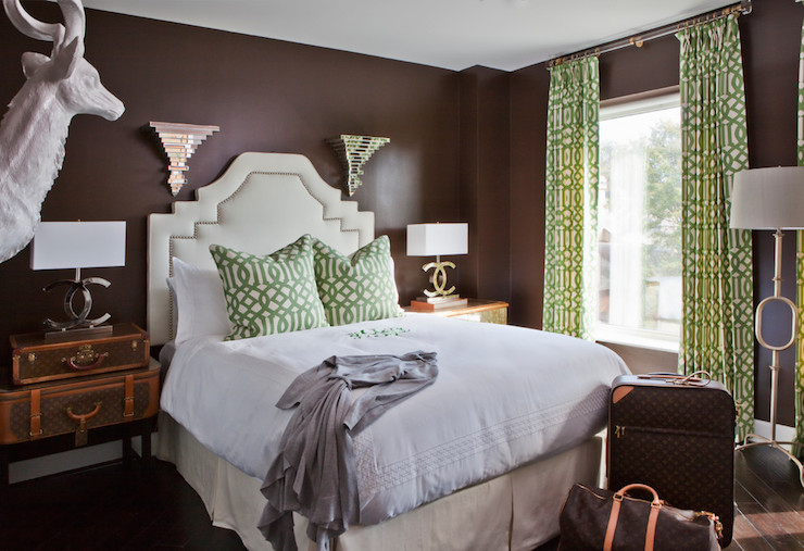 Chanel Lamps Eclectic Bedroom Parker Kennedy Living