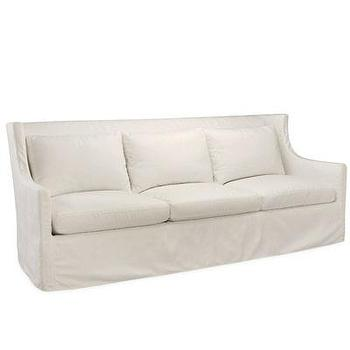 Seating - Cote d'Azur Outdoor Sofa in Spinnaker Salt I Bliss Home and Design - white slipcovered sofa, slipcovered outdoor sofa, wingbacked outdoor sofa, white sloped arm sofa, white outdoor sofa,