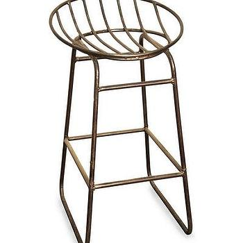 Seating - Mia Stool - Metal I Bliss Home and Design - metal stool, industrial metal stool, metal shell shaped stool, modern metal stool,