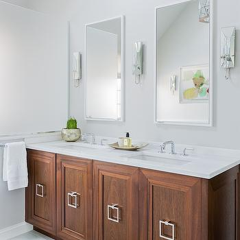 Beveled Mirrored Sconces, Contemporary, bathroom, Jennifer Palumbo