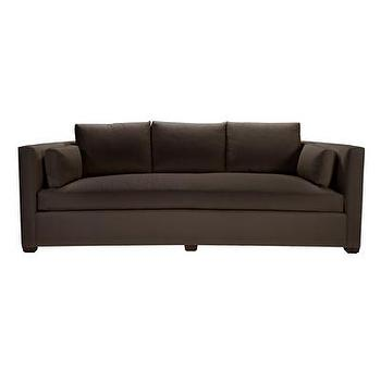 Seating - Julien Curved Sofa in Dark Walnut & Brown I Bliss Home and Design - contemporary brown sofa, brown tuxedo arm sofa, tuxedo arm sofa,