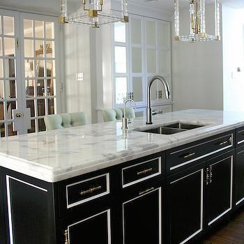 Super white quartzite countertops transitional kitchen for Kitchen designs namibia