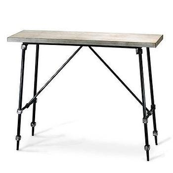 Tables - Doris Console Table I Bliss Home and Design - iron stretcher console table, industrial side table, iron based console table,