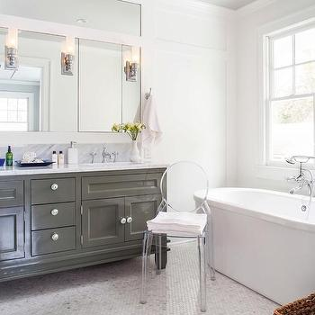 Gray Footed Vanity, Transitional, bathroom, TerraCotta Properties
