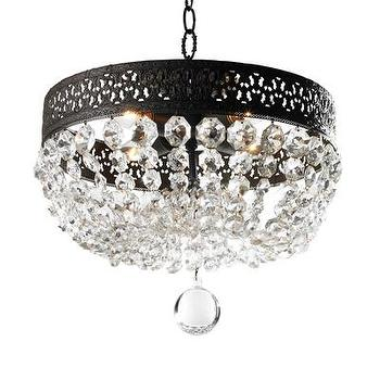 Mirrors - Lana Chandelier I Bliss Home and Design - crystal dome chandelier, crystal droplet chandelier, graduated crystal chandelier,