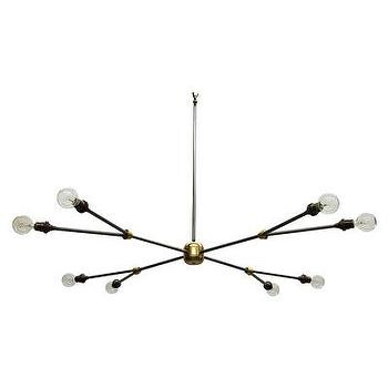 Lighting - Ice Chandelier I Bliss Home and Design - sculptural brass chandelier, brass pendant chandelier, transitional brass chandelier,