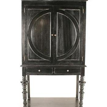 Storage Furniture - Ferret Wine Cabinet - Hand Rubbed Black I Bliss Home and Design - black wine cabinet, black lathe leg wine cabinet, transitional black wine cabinet,