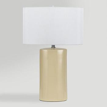 Lighting - Beige Ceramic Table Lamps, Set of 2 | World Market - beige table lamp, beige ceramic table lamp, modern beige table lamp,