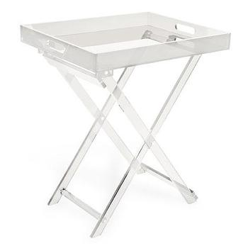 Tables - Handles Table | ZARA HOME - acrylic tray table, folding acrylic tray table, lucite style tray table,