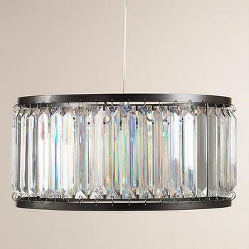 Lighting - Acrylic Drum Pendant Lamp | World Market - art deco style pendant, prismatic glass style pendant, acrylic drum pendant light,