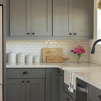 Kraftmaid Dunham Maple Square Cabinets, Transitional, kitchen, Jenna Sue Design