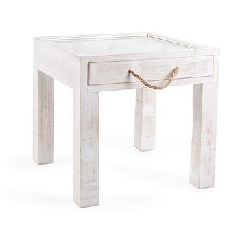 Tables - Small Cord Table | ZARA HOME - distressed white side table, distressed white single drawer side table, weathered white side table, white side table with glass top,