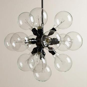 Lighting - 13-Bulb Cluster Chandelier | World Market - glass bubble chandelier, glass cluster chandelier, glass bubble style chandelier,