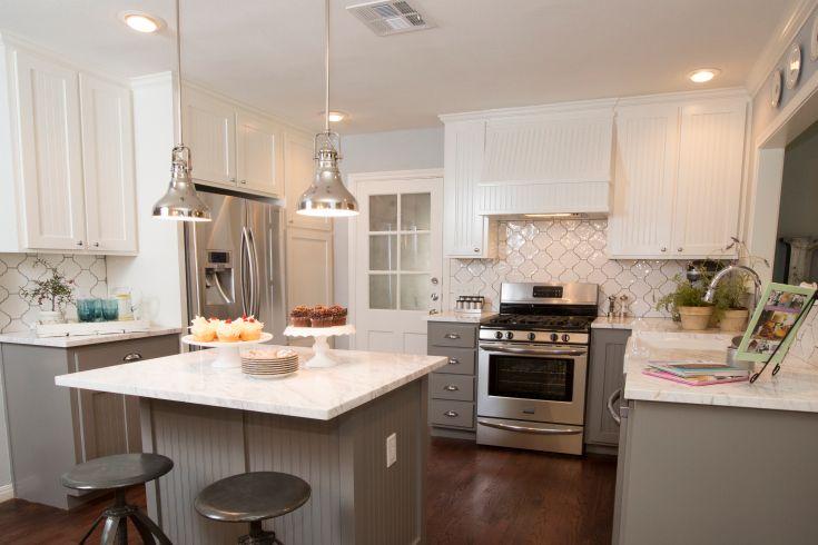 Beadboard kitchen cabinets transitional kitchen hgtv for Beadboard kitchen cabinets