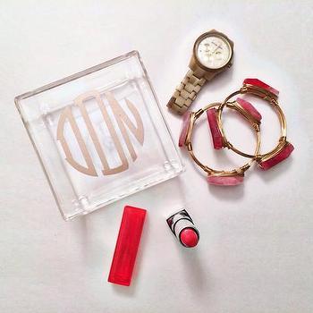 Decor/Accessories - Acrylic Monogram Trink Box | Shop Dandy LLC - gold monogrammed trinket box, acrylic trinket box, monogrammed acrylic trinket box,