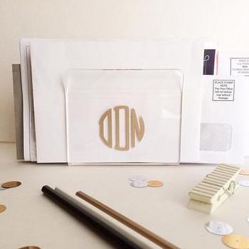 Decor/Accessories - Acrylic Monogram Holder | Shop Dandy LLC - monogrammed letter holder, monogrammed acrylic letter holder, monogrammed acrylic napkin holder,