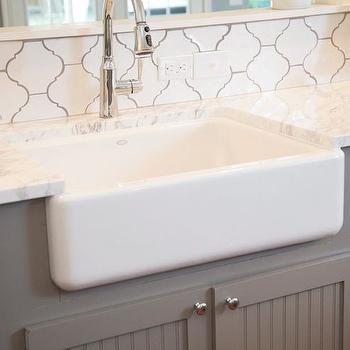 White Arabesque Tiles, Transitional, kitchen, HGTV