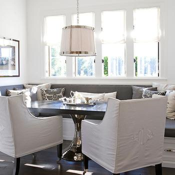 White and Gray Dining Room, Transitional, dining room, Tim Clarke Design