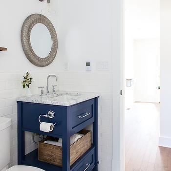 navy blue bathroom - contemporary - bathroom - holly