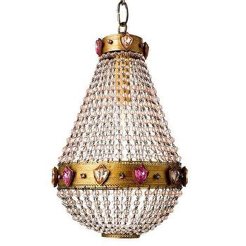 Lighting - Canopy Designs Parisian Medallion Chandelier I Zinc Door - gold glass beaded chandelier, glass beaded chandelier, pink gem and crystal chandelier,