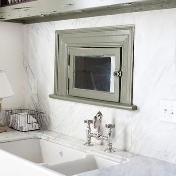 Dual Farmhouse Sink, Cottage, kitchen, The Lettered Cottage