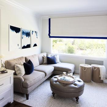 Taupe Sofa, Transitional, living room, MAS Design