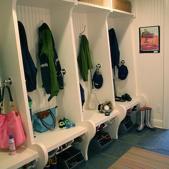 Titus Built - laundry/mud rooms: mudroom lockers, mudroom cubbies, mudroom baskets, mudroom benches, mudroom shoe storage, beadboard backsplash, mudroom beadboard, beadboard mudroom,