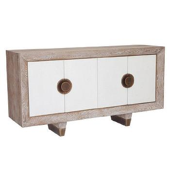 Storage Furniture - Geneva Media Cabinet I Zinc Door - white oak framed media cabinet, modern white oak media cabinet, modern white front media cabinet, modern media cabinet with brass handles,