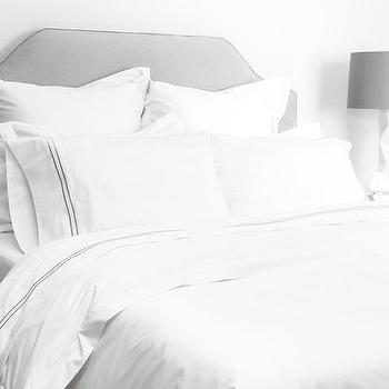 Bedding - White Bedding | The Linden White Duvet Cover | Crane & Canopy - white duvet cover, white bedding, hotel bedding, luxury bedding, designer bedding