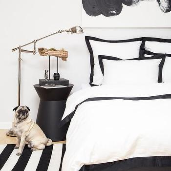 Bedding - Black Duvet Cover | The Linden Black Duvet | Crane & Canopy - black bedding, black and white bedding, border bedding, hotel bedding, black duvet cover