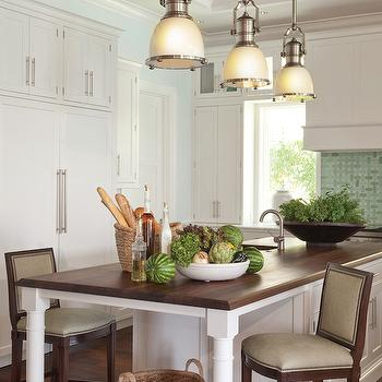Butcher Block Island, Transitional, kitchen, Kahn Design Group