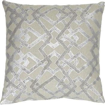 Pillows - Lori Shinal Abstract Lattice Pillow I Barneys.com - silver abstract pillow, silver linen pillow, silver abstract lattice pillow,