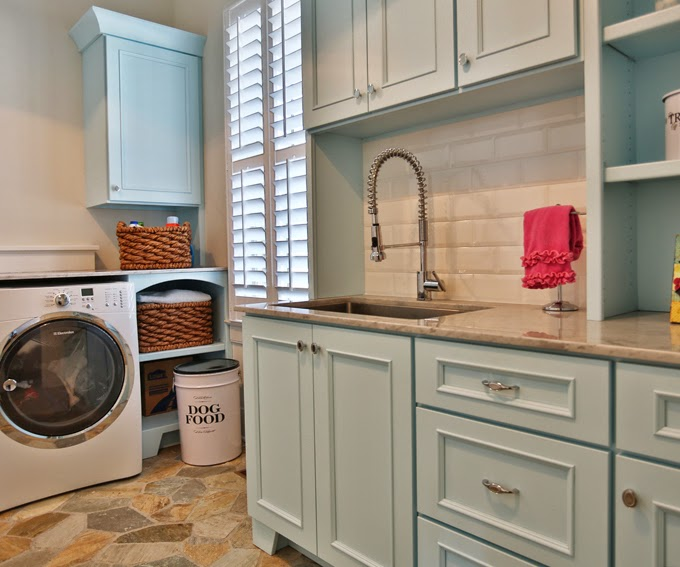 Blue Cabinets Transitional Laundry Room Sherwin