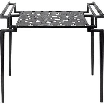 Tables - R&Y Augousti Large Rectangular Cecilia Side Table I Barneys.com - circle cut out table, black cutout table, modern black side table,
