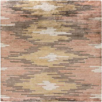 Rugs - Platinum Brown & Rust Rug design by Surya I Burke Decor - pink and gray rug, pink and gray hand knotted rug, pink and gray abstract rug,