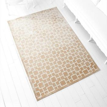 Rugs - Corinth Taupe Rug design by Cyan Design I Burke Decor - beige grid pattern rug, beige and ivory geometric rug, contemporary beige rug,