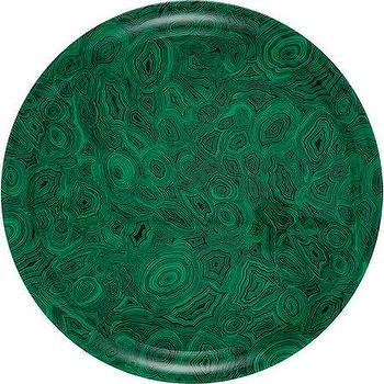 Decor/Accessories - Fornasetti Green Malachite Round Tray I Barneys.com - malachite tray, round malachite tray, green malachite tray,